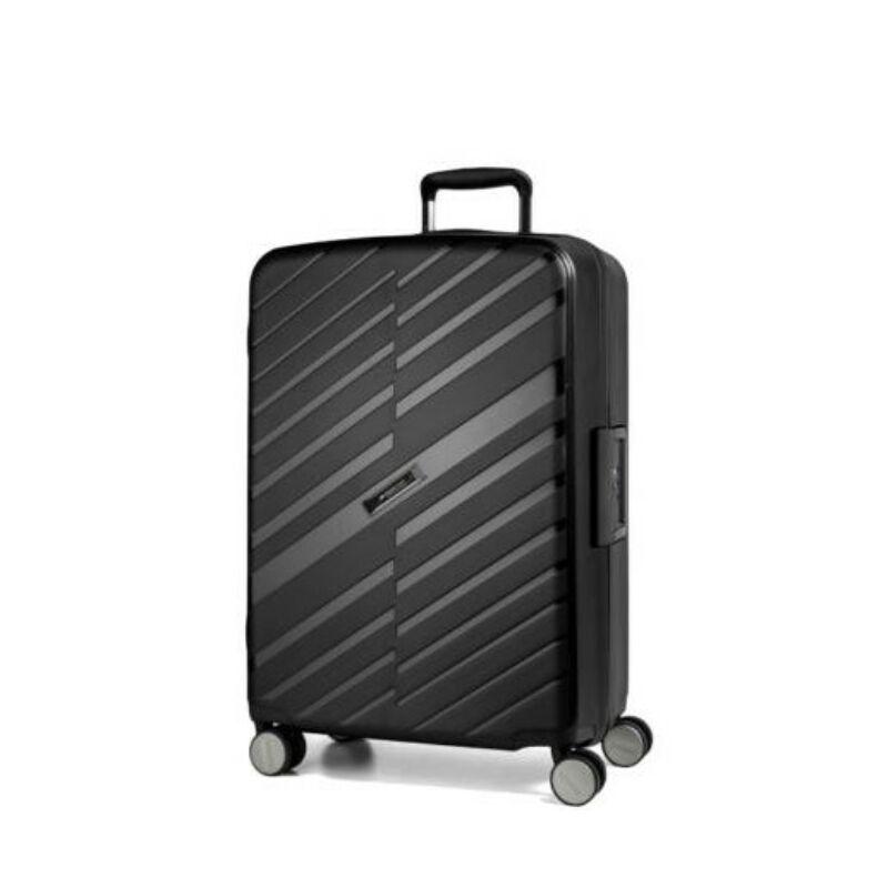 Yearz By March Bon Voyage bőrönd (cipzár nélküli) kabin fekete